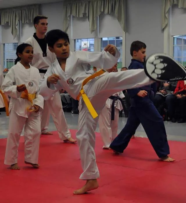 A kids class at Dover Dragons Tae Kwon Do